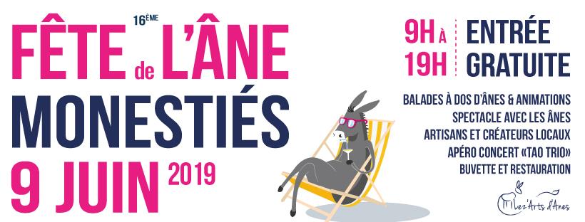 Bannière fête de l'âne 2019