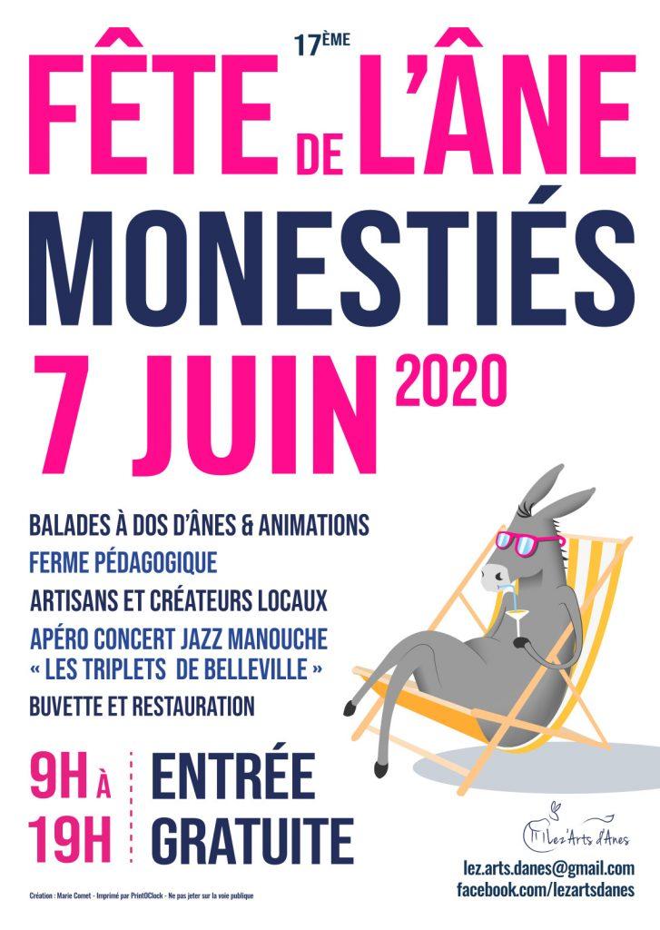 affiche fête de l'âne 2020